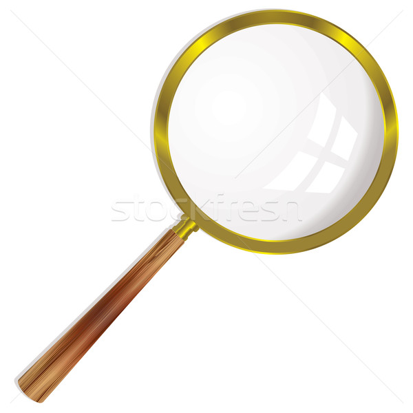 Stock photo: magnifying glass single