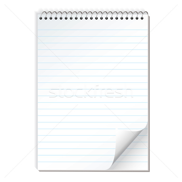 note paper spiral lined Stock photo © nicemonkey