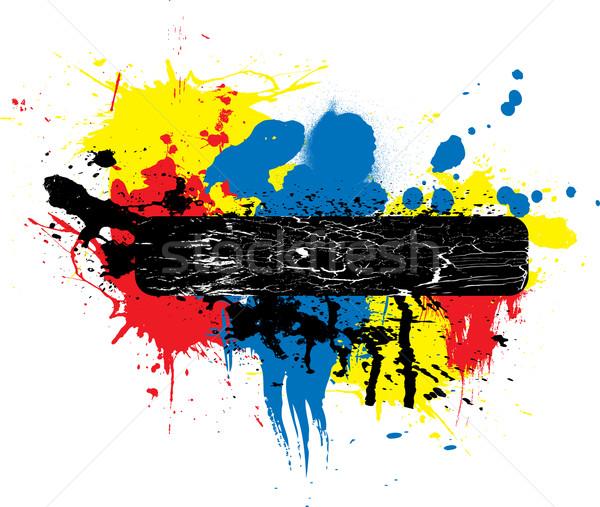 paint splat place holder Stock photo © nicemonkey