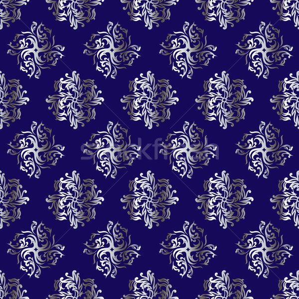 королевский повторять синий серебро дизайна Сток-фото © nicemonkey