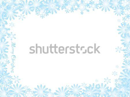Snowflake christmas white night Stock photo © nicemonkey