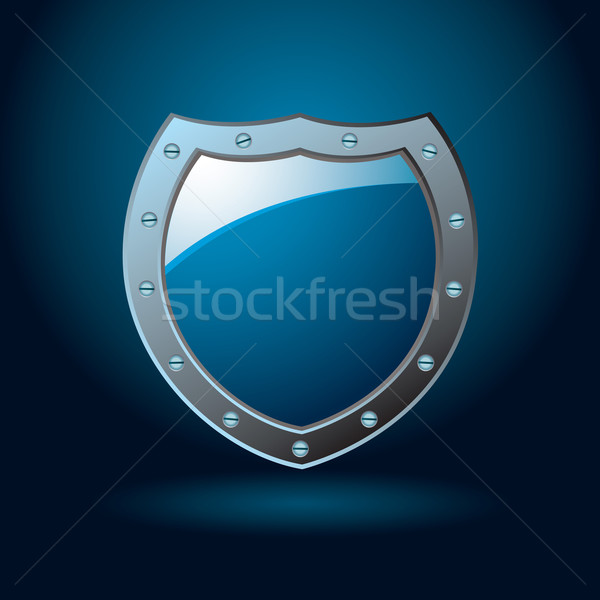 Blau Schirm dunkel Kobalt illustriert Schutz Stock foto © nicemonkey