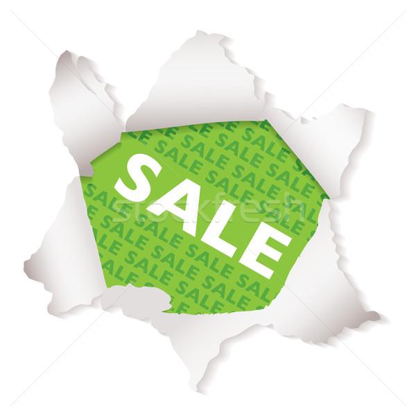 Sale paper explode green Stock photo © nicemonkey
