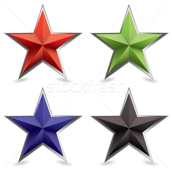 metal bevel star shape Stock photo © nicemonkey