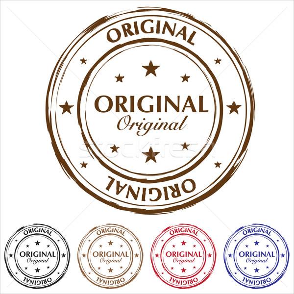 Original sello variación cinco goma sellos Foto stock © nicemonkey