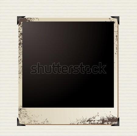 Foto esquina Polaroid imagen papel Foto stock © nicemonkey