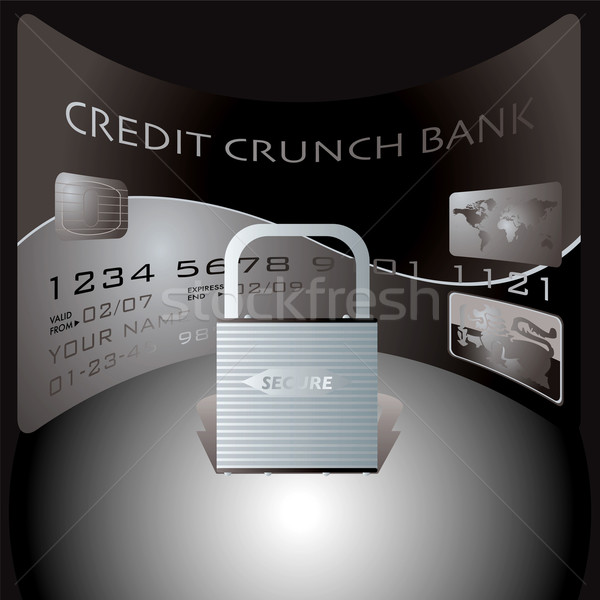 credit card lock Stock photo © nicemonkey