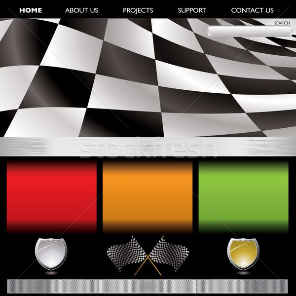 Formule racing web pagina exemplaar ruimte internet Stockfoto © nicemonkey