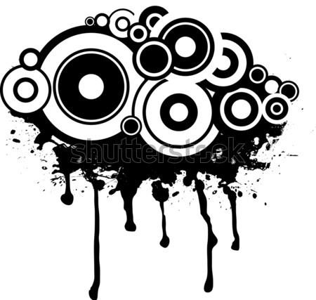 Foto stock: Tinta · círculo · resumen · salpicaduras · diseno · diferente