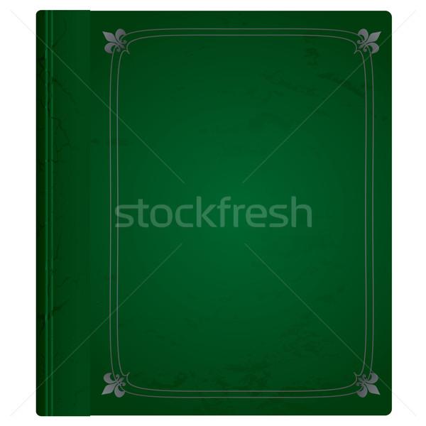 leather book green Stock photo © nicemonkey