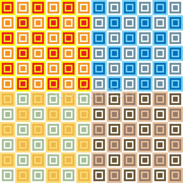 Settanta piazze abstract senza soluzione di continuità ripetizione design Foto d'archivio © nicemonkey