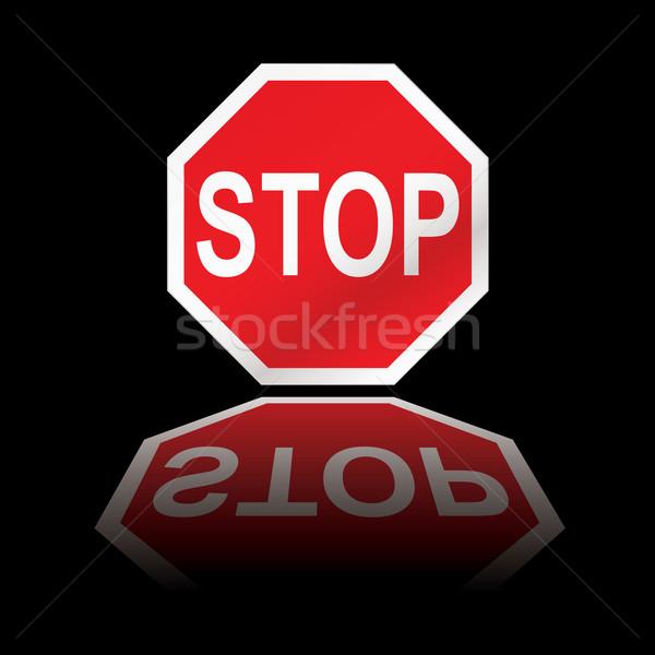 stop road sign reflection Stock photo © nicemonkey
