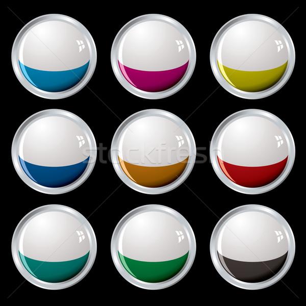 white top button silver Stock photo © nicemonkey