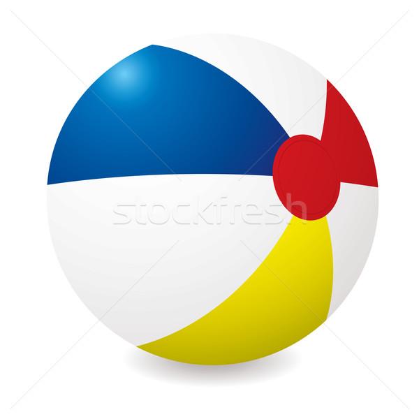Strandbal geïllustreerd verschillend gekleurd zomer Blauw Stockfoto © nicemonkey