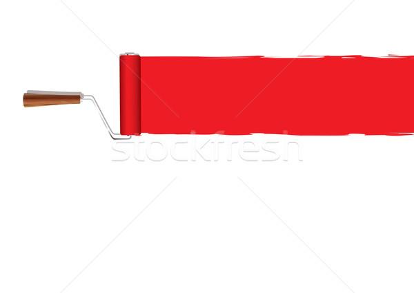 Paint roller banner Stock photo © nicemonkey
