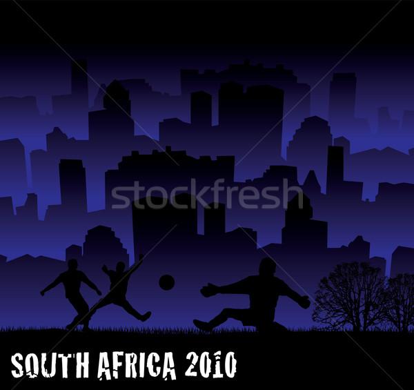 футбола ЮАР 2010 иллюстрация Городской пейзаж Сток-фото © nicemonkey