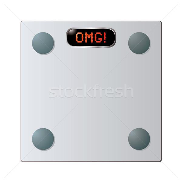 Glass bathroom scales Stock photo © nicemonkey