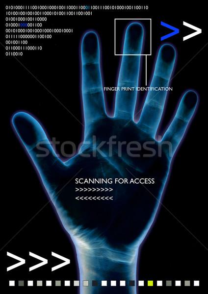 scan hand Stock photo © nicemonkey
