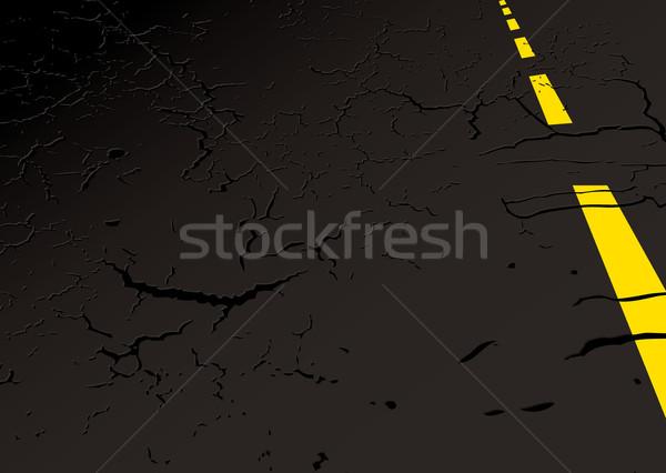 Strada lato nero giallo line copia spazio Foto d'archivio © nicemonkey