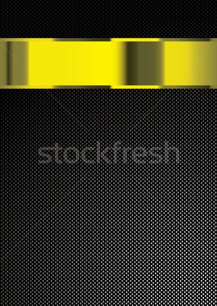 Photo stock: Fibre · de · carbone · or · bande · bannière · espace · de · copie · technologie