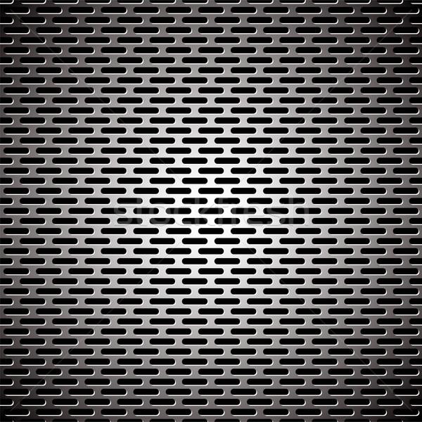 スロット グリル 金属 銀 光 反射 ストックフォト © nicemonkey