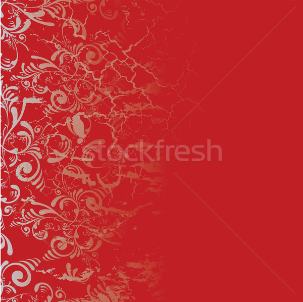 Piastrelle rosso argento floreale design abstract Foto d'archivio © nicemonkey