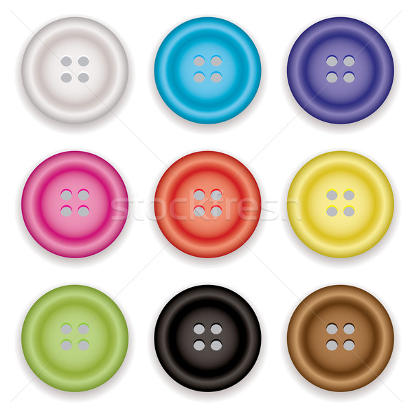 clothes buttons icons Stock photo © nicemonkey