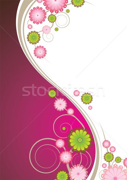 Floral explosión rosa resumen marrón espacio de la copia Foto stock © nicemonkey