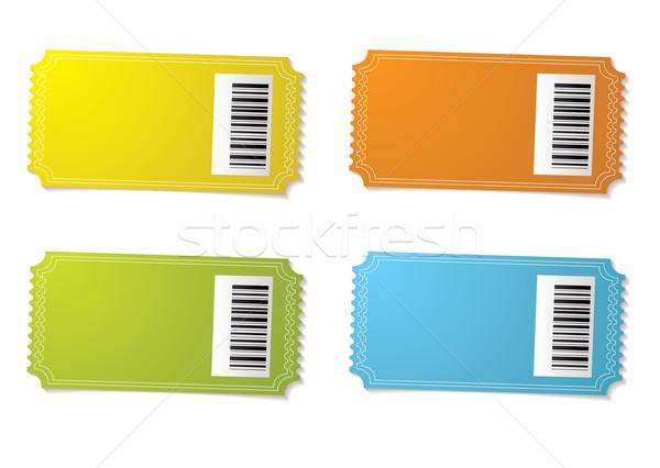 Biglietto barcode quattro colore variazione arancione Foto d'archivio © nicemonkey