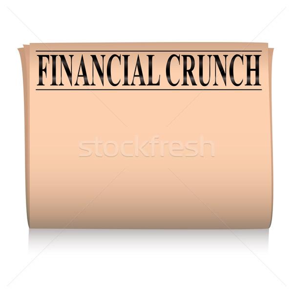 újság rózsaszín pénzügyi lazac szoba saját Stock fotó © nicemonkey
