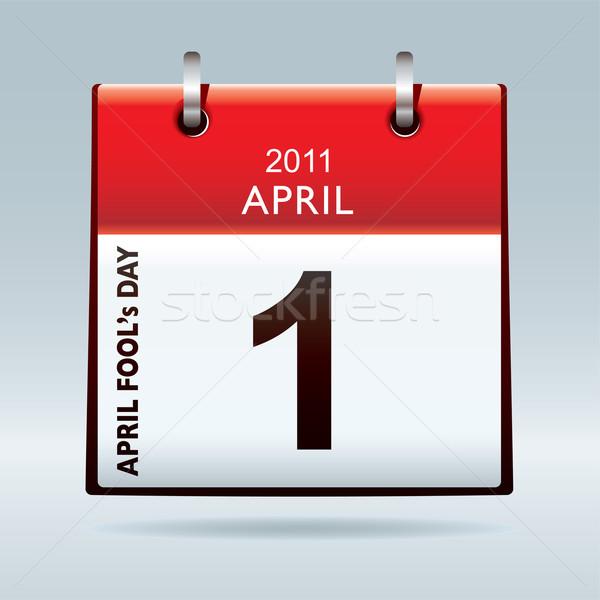 April fools day calendar Stock photo © nicemonkey
