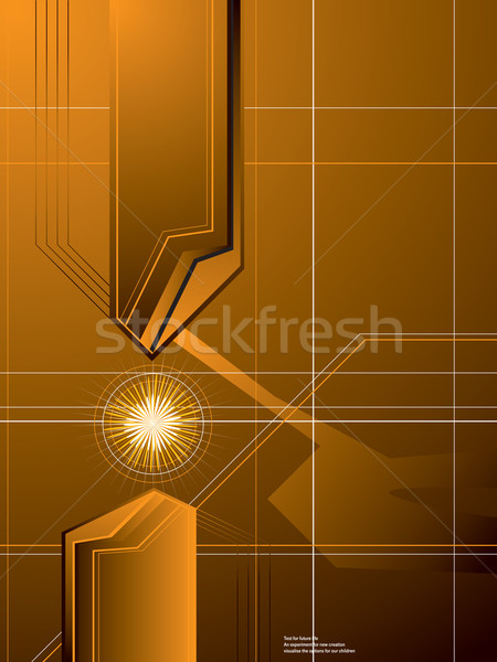 Gouden pijl abstract Geel fusie vonk Stockfoto © nicemonkey