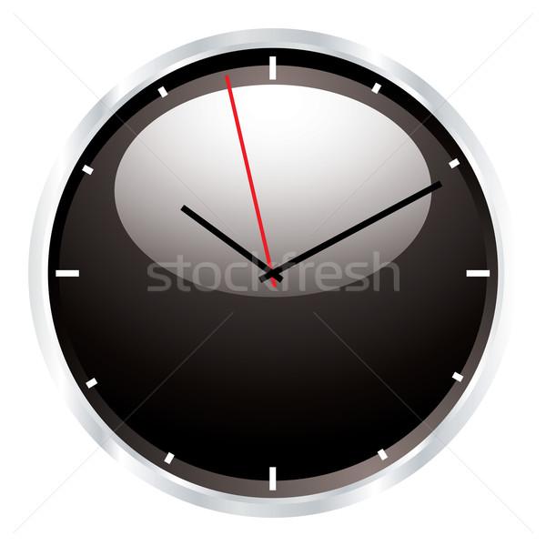Moderno parede relógio preto luz reflexão Foto stock © nicemonkey