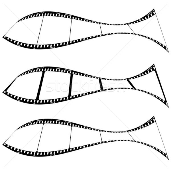 Fotó filmszalag hal film csíkok forma Stock fotó © nicemonkey