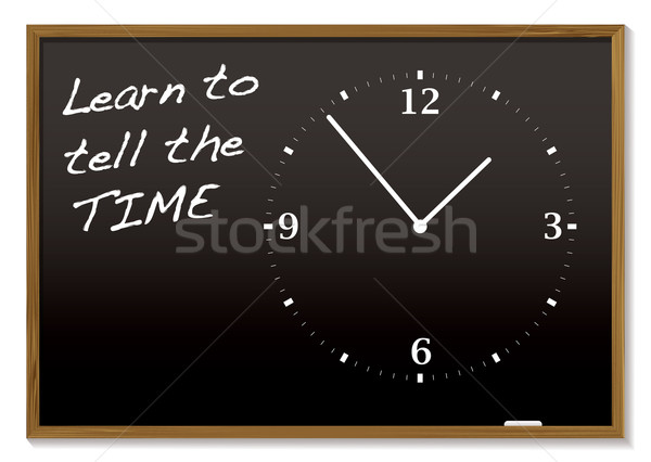 tell the time blackboard Stock photo © nicemonkey