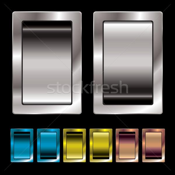 Mudar variação prata metal cor Foto stock © nicemonkey