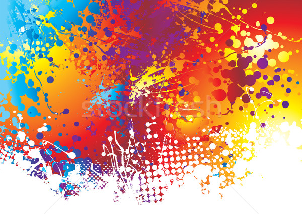 ink splat rainbow bottom Stock photo © nicemonkey