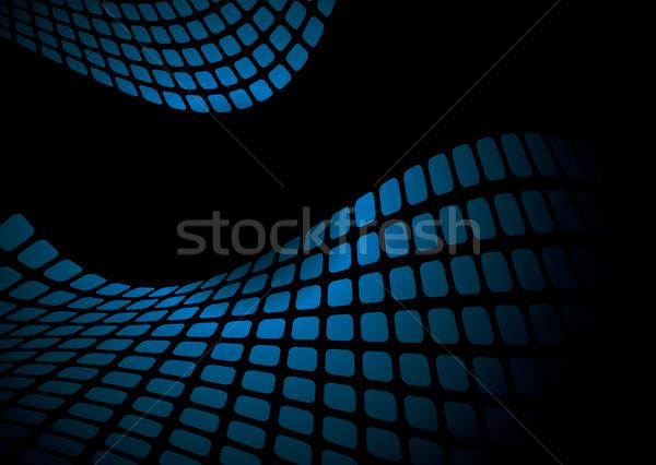 wavy blue mesh Stock photo © nicemonkey