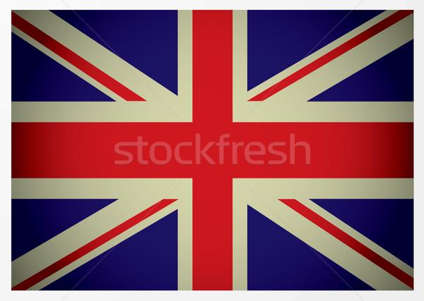 aged british flag Stock photo © nicemonkey