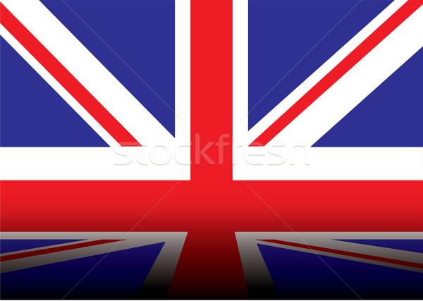 Brit zászló árnyék piros fehér kék sötét Stock fotó © nicemonkey