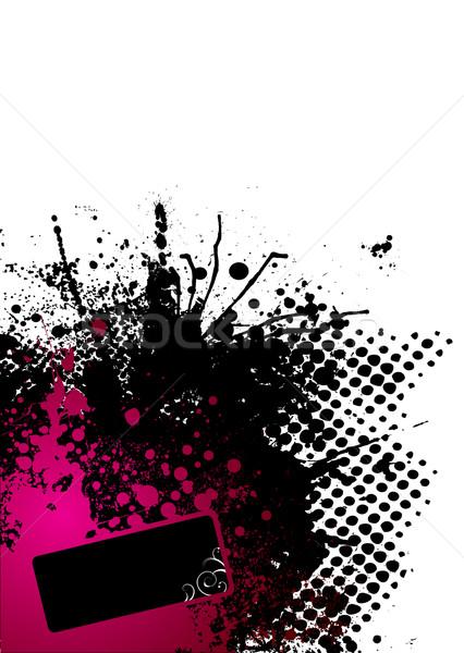Foto stock: Tinta · rojo · resumen · negro · esquina · diseno