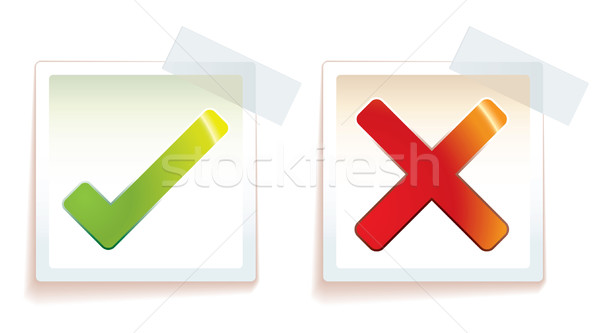 Verkeerd kruis icon stick tape Stockfoto © nicemonkey