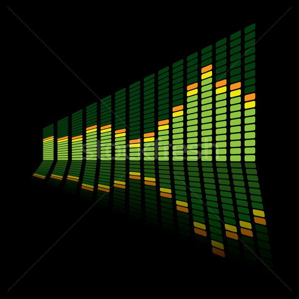 Gráfico equalizador ângulo verde música reflexão Foto stock © nicemonkey