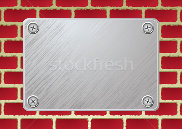 brickwall metal plate Stock photo © nicemonkey