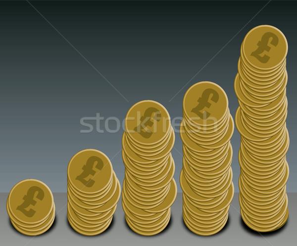 Monete grafico pound oro dollaro Foto d'archivio © nicemonkey