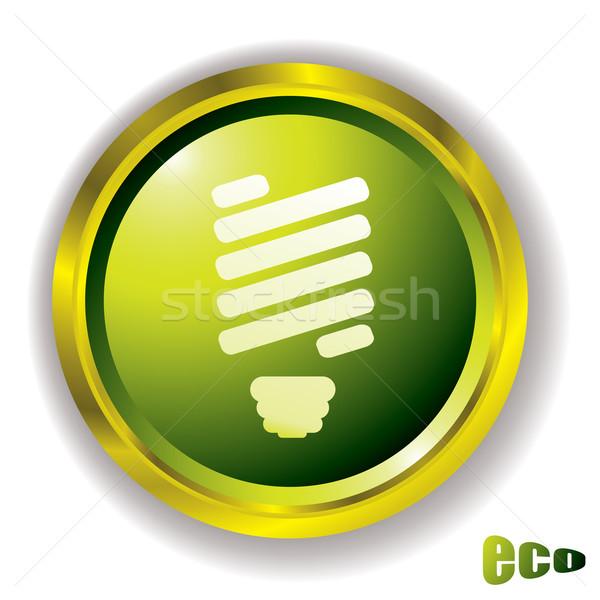 eco bulb icon Stock photo © nicemonkey
