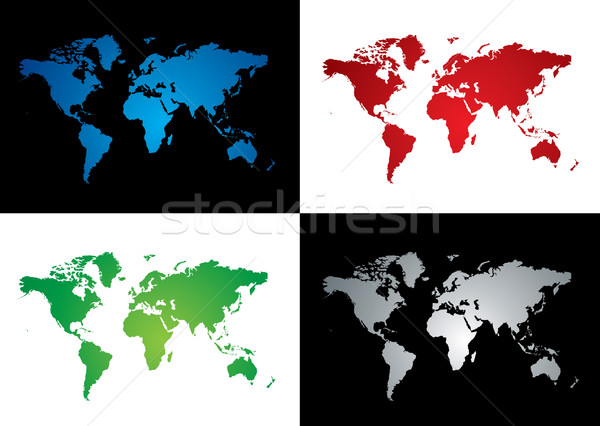 Mapa do mundo variação quatro colorido mapa dois Foto stock © nicemonkey