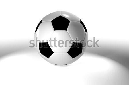 Futball köd hagyományos futballabda feketefehér jókedv Stock fotó © nicemonkey