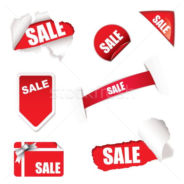 Compras venda elementos vermelho branco projeto Foto stock © nicemonkey