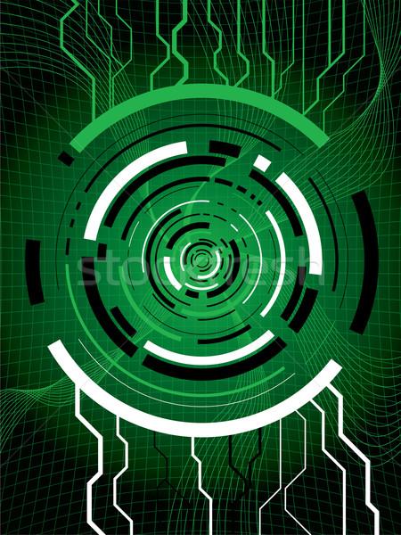 Zöld absztrakt technikai mutat digitális információ Stock fotó © nicemonkey